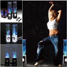 Stereo Music LED Dancing Water Fountain Light USB Speakers iPad iPhone Laptop