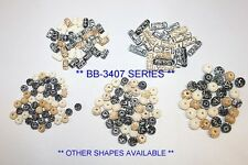 Hand Crafted & Carved Bone Beads - 3-4 Colors-Assorted - 72 & 144 Beads / Pack