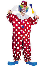 Brand New Funny Dotted Circus Clown Adult Halloween Costume