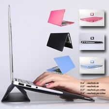 """Leather Sleeve Bag Skin Case Cover with Stand MacBook Air Pro Retina 11 13 15"""""""