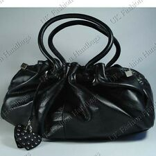 NEW FAUX LEATHER DESIGNER HOBO BAG / HANDBAG BLACK