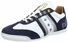 Pantofola d'Ora Ascoli Piceno White Navy Gold New Leather Mens Shoes Trainers