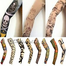 1PC Skeleton Nest Pattern Temporary Fake Slip on Tattoos Arm Sleeve Sleevelet #3