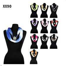 11 Jewelry Flower Pendant Necklace Cowl Infinity Loop Figure 8 Circle Scarf
