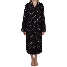 Next Womens Full Length Super Soft Spotted Fleece Dressing Bath Robe Gown