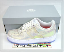 2014 DS Nike Wmns Air Force 1 07 PRM QS Iridescent Pack White Silver 704517-100