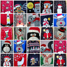 NEW MENS WOMENS LADIES PRIMARK 3D XMAS CHRISTMAS JUMPERS NOVELTY XS S M L XL XXL