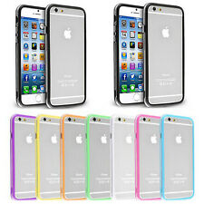 "1X New Bumper Frame TPU Gel Case Cover for Apple iPhone 6 4.7"" Metal Button"