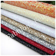 Glitter Fabric Material (CHUNKY) A5 Sheet 15cm x 21cm - Craft/Applique/Christmas