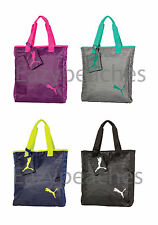 PUMA Cat 15L Zebroc Grocery Tote Gym Bag School Sack with Removable Zipper Pouch