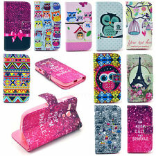 Card Pocket Wallet Flip Leather Painted Various Pattern Phone Skin Case Cover