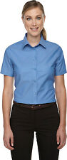 North End Women's New Short Sleeve Button Front Oxford Shirt. 77039