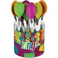 24/PACK ROBINSON HOME PRODUCTS, ZING 93000 ZING SILICONE SPOON