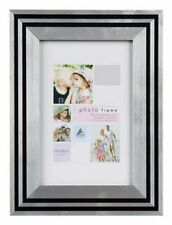Art Deco Style Black Silver Picture Frame 6x4 5x7 8x6 10x8 A4 With Mount