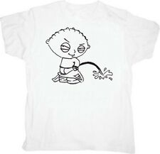 Adult White Comedy TV Show Family Guy Peeing Stewie Taking a Leak T-shirt Tee