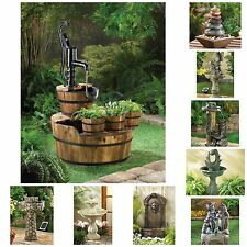 BEAUTIFUL Outdoor Water Fountains Solar and Pump...Fast Shipping