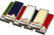 Bolsius Non-Drip Tapered Candles - 7.5 Hour Burn Time - Boxes of 10