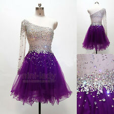 Beaded Net Short Party Ball Gowns Evening Cocktail Prom Homecoming Dresses 6-16
