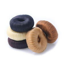 Korea Hairpiece Stretchy Donut Hair Rope Ring Band Faux Wig Ponytail Holder