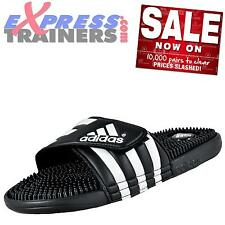 Adidas Mens Adissage Slides Shower Pool Beach Sandals Black * AUTHENTIC *