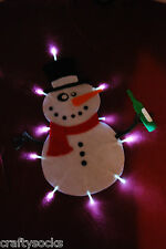 Tipsy Snowman Novelty ugly christmas jumper with lights Great for office parties