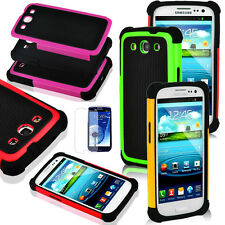 Hybrid Rugged Rubber Hard Case Cover For Samsung Galaxy S3 III I9300