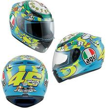 AGV K3 Valentino Rossi 46 Wake Up Full Face Motorcycle Helmet Blue Yellow