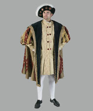DELUXE KING HENRY VIII COSTUME Mens Monarchy Royalty Tudors Queen High Quality