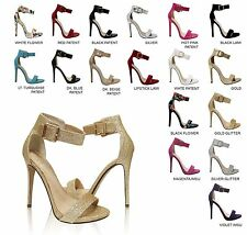 Delicious Women's Open Toe Ankle Strap Stiletto Heel Dress Sandals CANTER