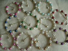 pearl bracelet, christening, holy communion, bridesmaid, ect