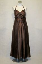 NEW Torrid Chocolate Brown Satin Rhinestone Formal Halter Gown 14/16 14W 16W 1x