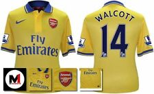 *13 / 14 - NIKE ; ARSENAL AWAY SHIRT SS + PATCHES / WALCOTT 14 = SIZE*