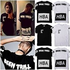 New Mens Women's Black White Cool Hip-Hop Short Sleeve Tee T-Shirts Street Tops