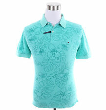Tommy Hilfiger Men Short Sleeve Floral Custom Fit Pique Polo Shirt -Free $0 Ship