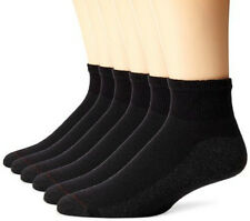 12 Pairs Packs Black Ankle Low Cut Socks Cotton Sport Mens Cushion New Quarter