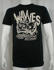 Authentic WAVVES Band Cynical Cats Logo Slim Fit T-Shirt S M L XL NEW