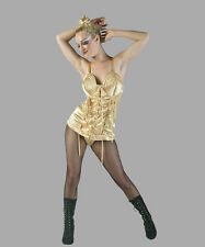 DELUXE MADONNA BLONDE AMBITION TOUR COSTUME Gold Corset 80's Singer Queen of Pop