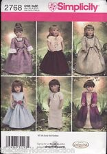 """Simplicity Doll Pattern to fit 18"""" American Girl or Similar - You Choose"""