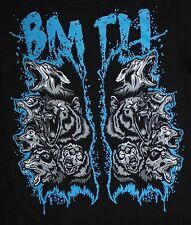 Bring Me The Horizon metalcore DEATHCORE BAND BMTH WOLF T-shirt Man Sz M,L
