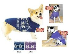 Casual Canine ALPINE SNOWFLAKE KNIT DOG SWEATER Coat Jacket Winter Holiday Snow