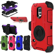 Heavy Duty Rugged Hard Case Cover & Belt Clip Holster For SAMSUNG Galaxy S5