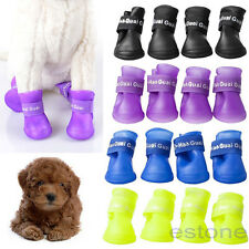 1 Set Dog Candy Colors Boots Waterproof Protective PVC Pet Rain Shoe Booties