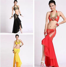 Belly Dance Costume Peacock Top&Fishtail Skirt 9 Colors