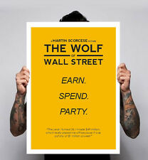 The Wolf Of Wall Street Image Poster Earn Spend Party DiCaprio 180gm A1-3 New
