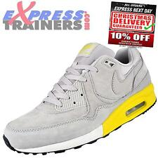 Nike Mens Air Max Light Premium Suede Leather Trainers Grey New 2014 *AUTHENTIC*