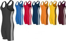 Adidas 3-Stripe Youth or Adult Wrestling Singlet, aS102s, 7 colors available!