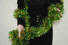 7.5m (Approx.25ft long) LUXURY TINSEL-GREEN&GOLD/GOLD/RED/FIR GREEN/BLACK&SILVER