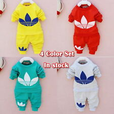 Hot Sale 2014- New cotton Toddlers children baby boys girls autumn spring set