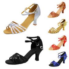 Women Professional Ballroom Latin Dance Shoes Heeled Salsa Tango Shoes