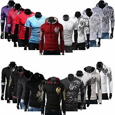 New Mens Casual Dragon Devil Tattoo Shirt Sweaters Hoodies Coat Tee Tops T-shirt